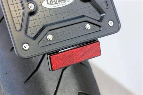 Kennzeichenhalter F R Motorrad 180x200 by Motorrad Kennzeichenhalter Mit R 252 Ckstrahler Reflektor