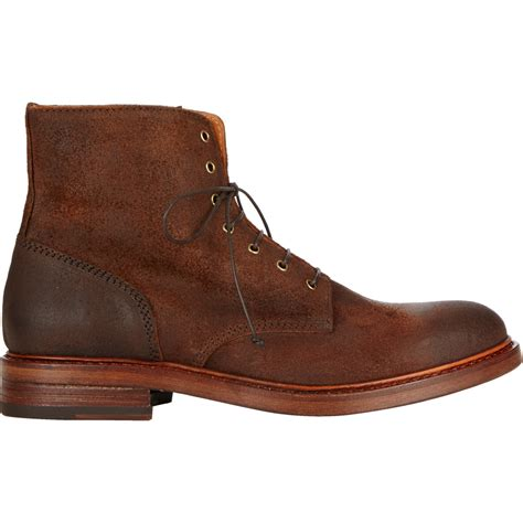 buttero boots buttero suede lace up boots in brown for lyst
