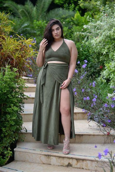 Green Nadya Tank Top aboulhosn curvy top skirt shoes plus