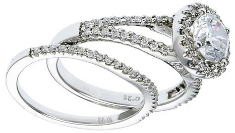 Wedding Rings On Sale by Engagement Rings On Sale White Gold Set With Diamonds