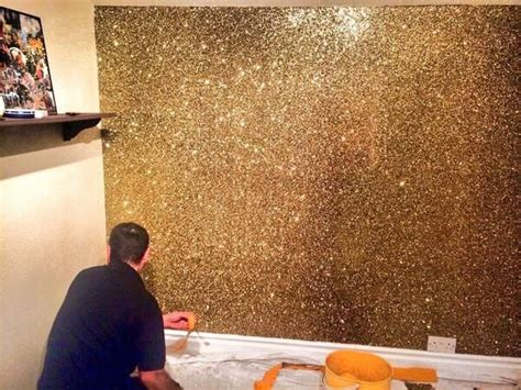 glitter wallpaper feature wall gold bronze glitter wall amazing glitter wallpaper