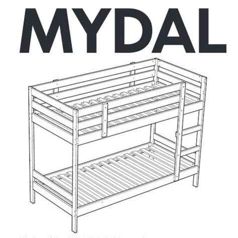 Parts Of A Bunk Bed Ikea Mydal Bunk Bed Replacement Parts Furnitureparts