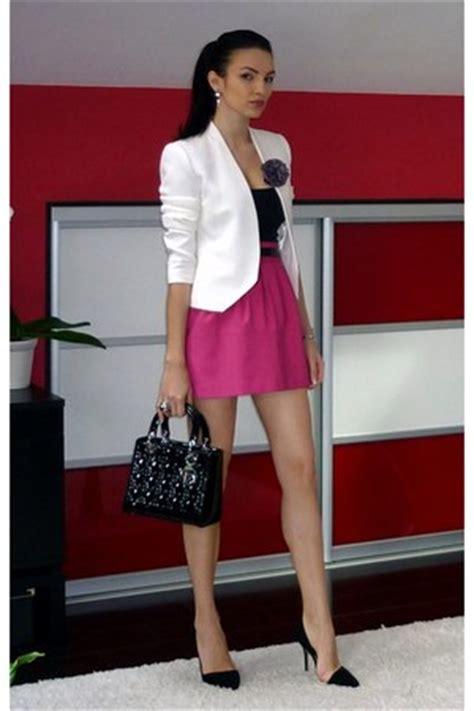 blackpink zara ivory zara blazers black dior bags hot pink zara skirts
