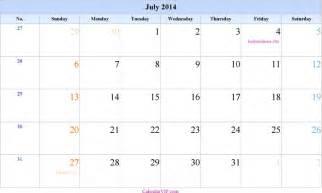 July 2014 Calendar July 2014 Calendar 1 For Free Tidyform