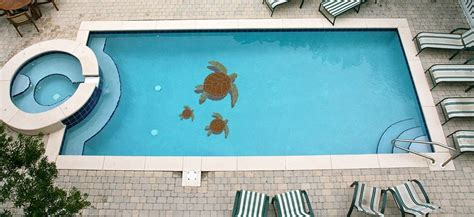 turtle  family ceramic pool mosaic blue water pool mosaics