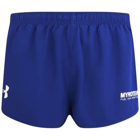 Sepatu Sport Mens Underarmor armour s athletic shorts blue white myprotein