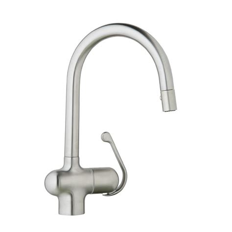 Grohe Kitchen Faucet Ladylux Grohe Ladylux Pro Single Handle Pull Sprayer Kitchen Faucet In Stainless Steel 32245sd0