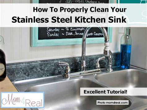 how to properly clean your stainless steel kitchen sink