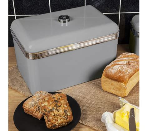 buy swan retro bread bin grey free delivery currys