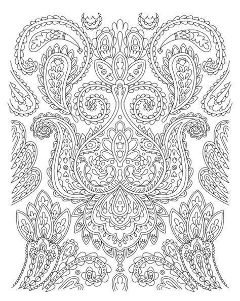 paisley coloring pages pdf les 667 meilleures images du tableau coloring paisley