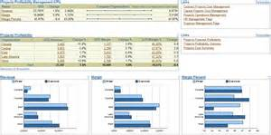 projects profitability management dashboard