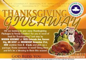Free Thanksgiving Food Giveaway - free thanksgiving food packages for families in need kansas city on the cheap