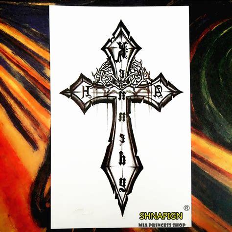 cross tattoo flash art popular decorative cross tattoos buy cheap decorative