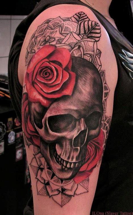 skull and roses sleeve tattoo designs 50 cool skull tattoos designs pretty designs