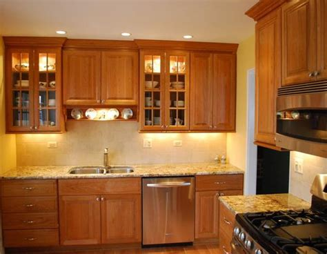 Cabinets Light Granite by Light Cherry Cabinets What Color Countertops Well