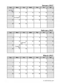 quarterly calendar template 2017 quarterly calendar with holidays free printable
