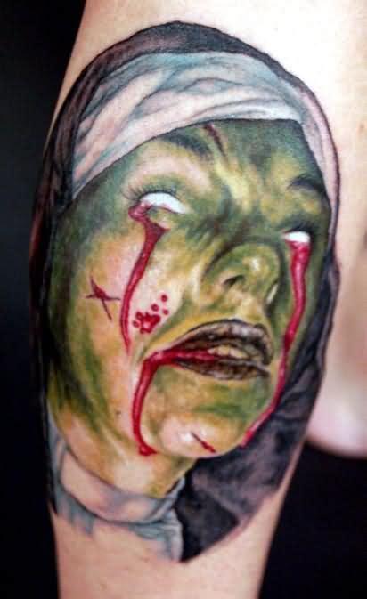 tattoo girl bleeding eyes bleeding eyes and mouth tattoo