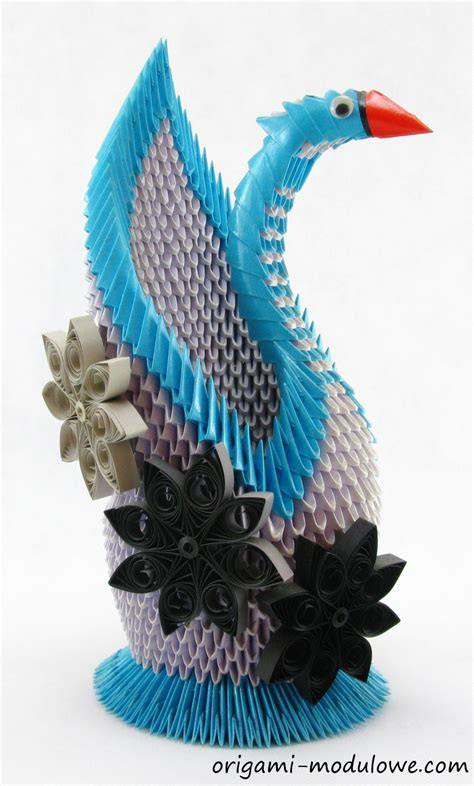 Origami Modular Swan - modular origami swan 5 by origamimodulowe on deviantart