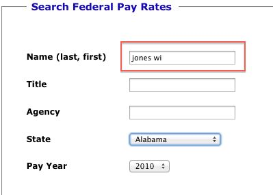 Search Last Name Unknown Finding An Individual Federal Employee S Name And Salary