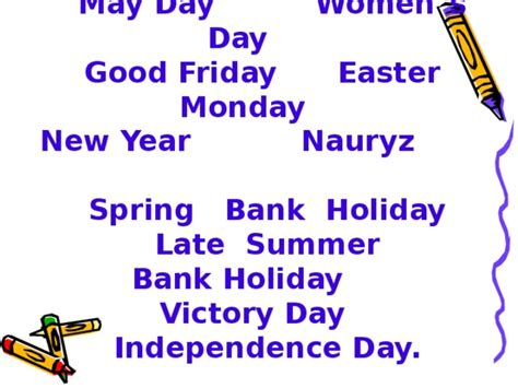 bank holidays a year holidays in kazakhstan английский язык уроки
