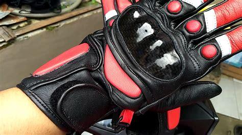 Sarung Tangan Kulit Racing sarung tangan kulit racing merah gloves frians leather terbaru