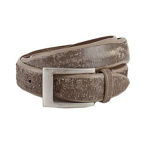 brunello cucinelli distressed leather belt in silver