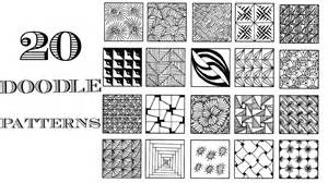 how to do doodle patterns easy 20 zentangle patterns doodle patterns