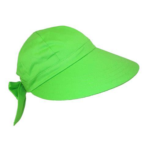 womens cotton wide brim facesaver sun visor hat by ctm