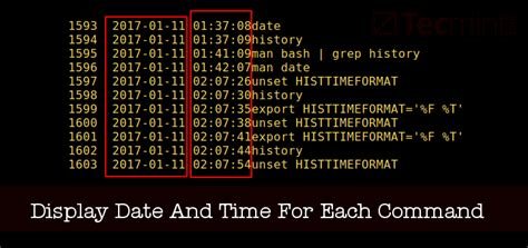set date  time   command  execute  bash history