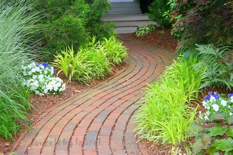 curved garden path by laurel talabere artwanted com