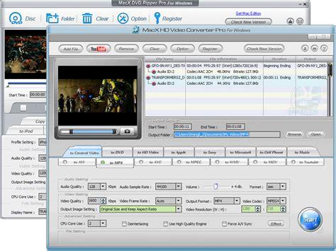 format video dvd macx dvd video converter pro pack convert dvd and video