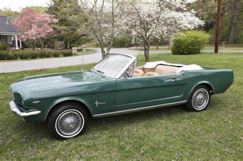 1964 1 2 ford mustang convertible 1964 1 2 ford mustang convertible 289 green 1964 1965
