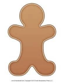 Gingerbread Template by Gingerbread Template Clipart Coloring Page For