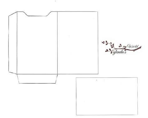 gift certificate envelope template glenda s world gift card sleeve with card