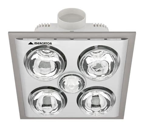 Mercator Bs024cswsl Lava Quattro 4 X Heat 1 X Light Heat Fan Light Bathroom