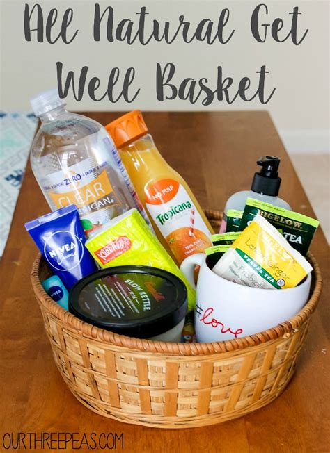 all natural get well basket our three peas
