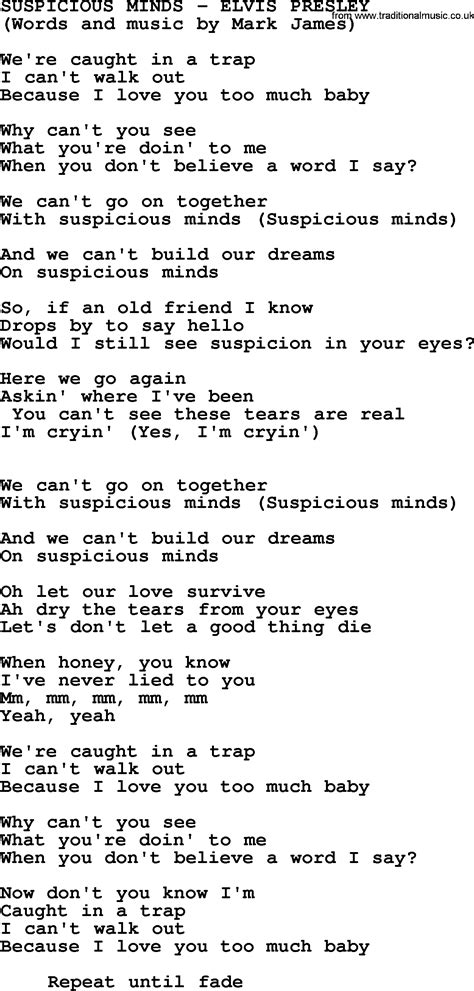 printable elvis lyrics elvis presley song with lyrics search results fun