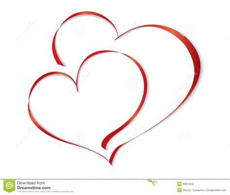 clipart vettoriali un cuore dei due amanti illustrazione vettoriale