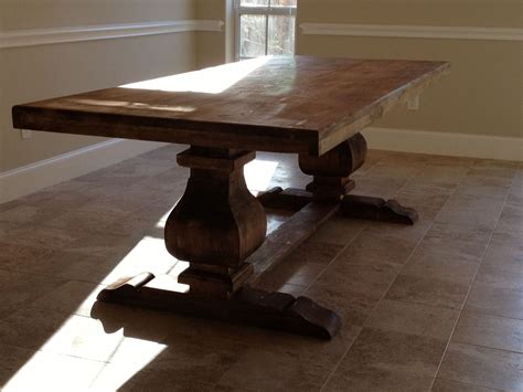 Handmade Or Made - custom 7ft trestle table solid wood by hinojosa custom
