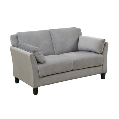tufted loveseat gray furniture of america trevon tufted fabric loveseat in gray idf 6716gy lv
