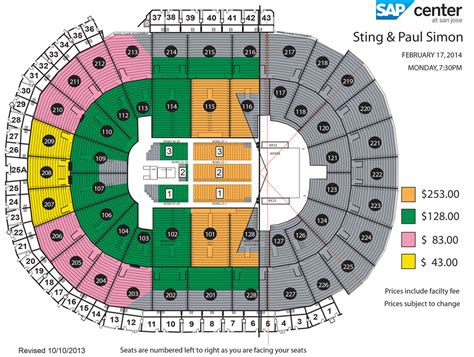 tattoo ticket prices sap center paul simon and sting