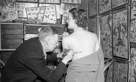 a history of women and tattoo ubersuper tattoo artist charles quot red quot gibbons inking a woman s