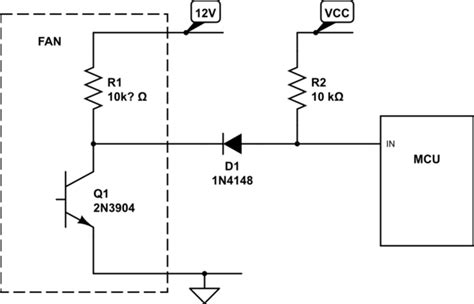 pull up resistor value 12v how to read rpm from 3 wire fan pic18f4550 electrical engineering stack exchange
