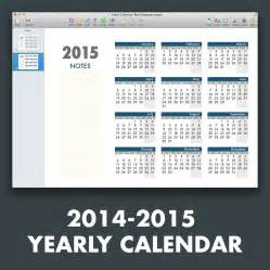 yearly calendar template 2015 yearly calendar template for pages and pdf mactemplates