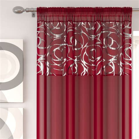 tony s curtains skye red voile curtain panel tony s textiles