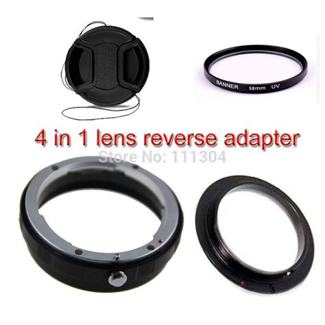 Promo 58mm Macro Lens Adapter Ring For Nikon Ai Af Mount Mu 4in 1 58mm macro lens adapter protection ring kit for canon 5d 6d 60d 70d 600d 650d 700d