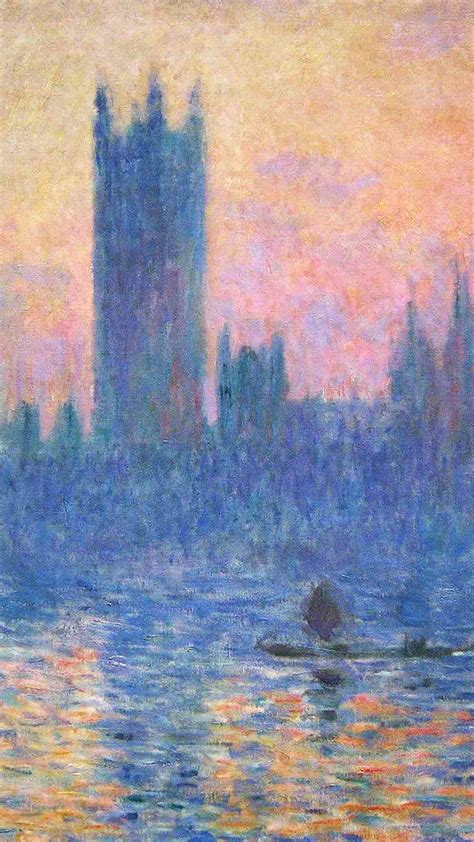 claude monet classic painting art sunset pattern iphone