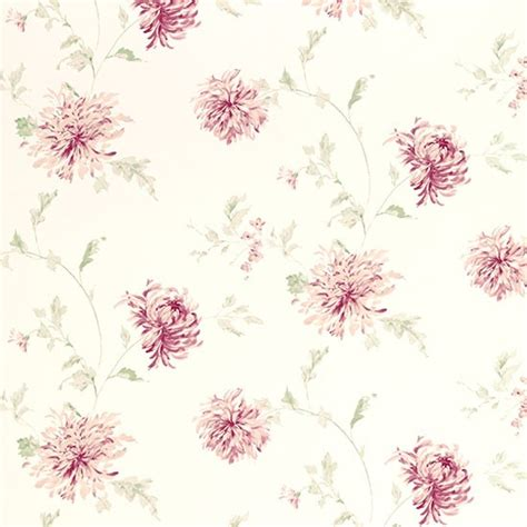 floral wallpaper for walls ninette berry pink floral wallpaper from laura ashley