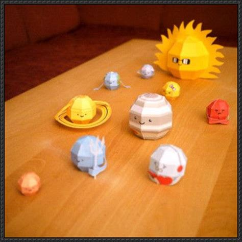 Diy Miniatur Papercraft Taman Safari papercraft for solar system free paper toys