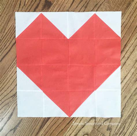Quilt Block of the Month: Heart Quilt Block   Simple Simon